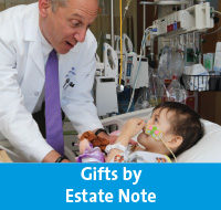 Rollover of North Shore University Hospital. Link to Gifts by Estate Note.